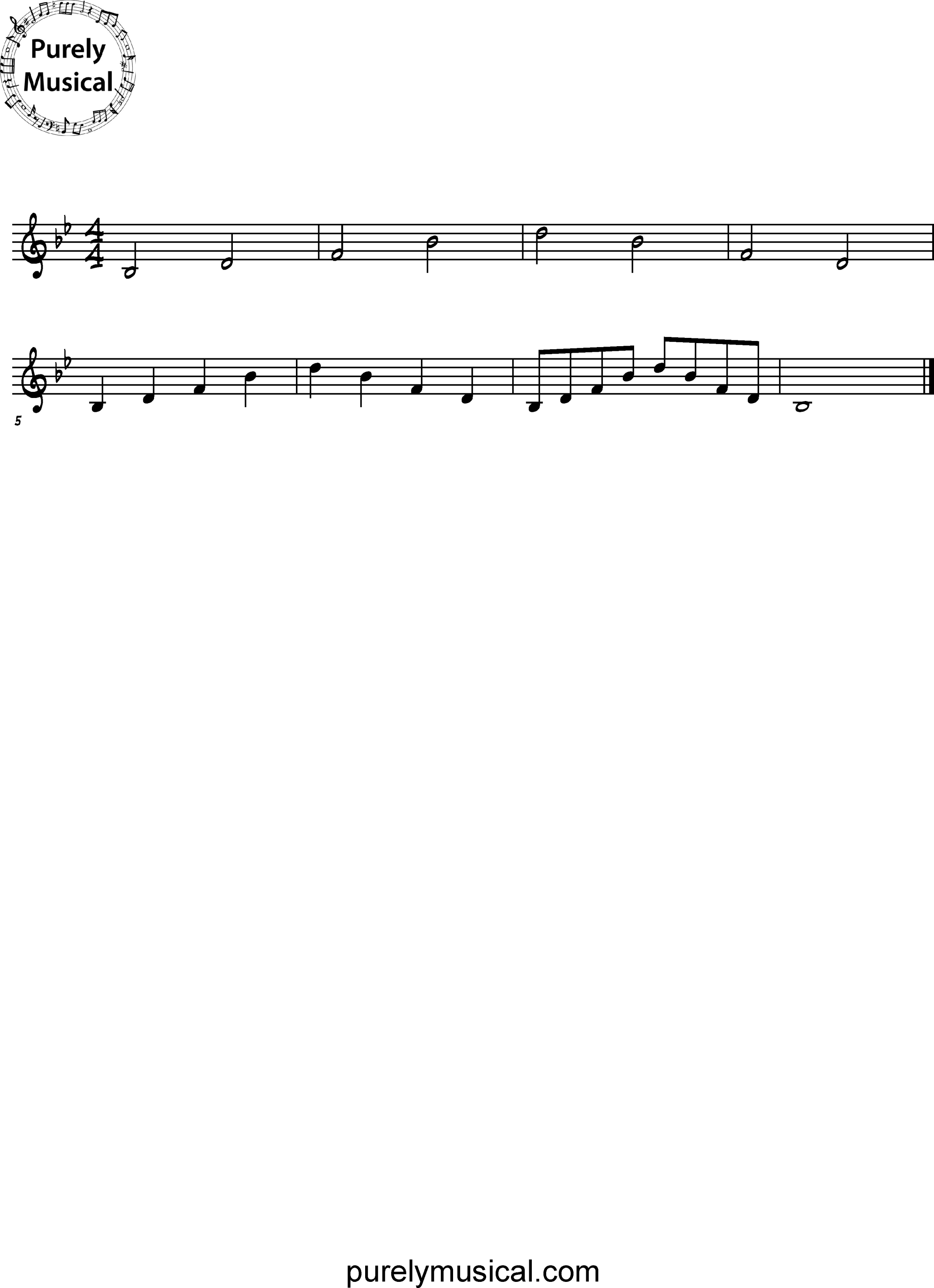 Beginner  Arpeggio Bb Major