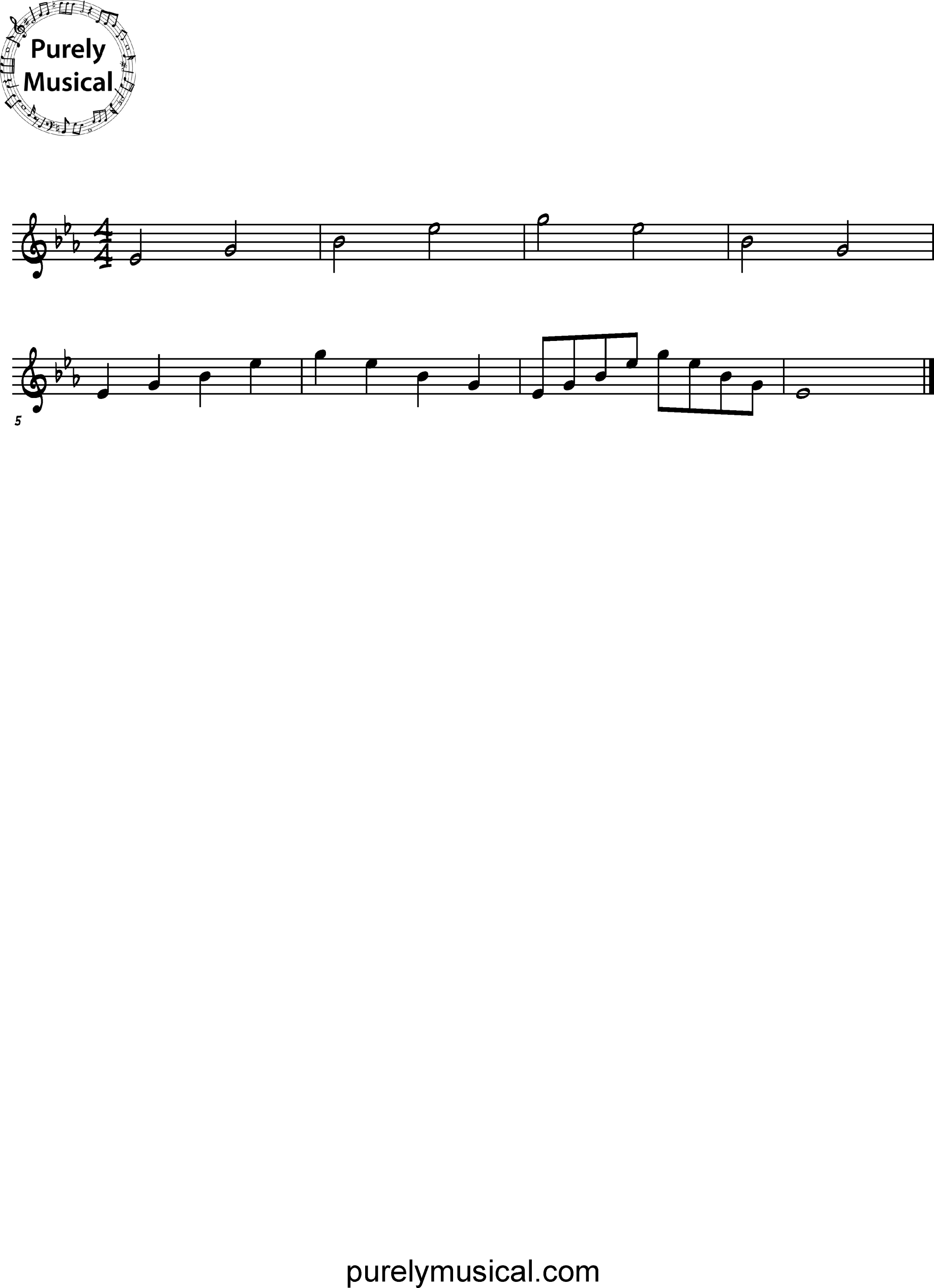 Intermediate  Arpeggio Eb Major