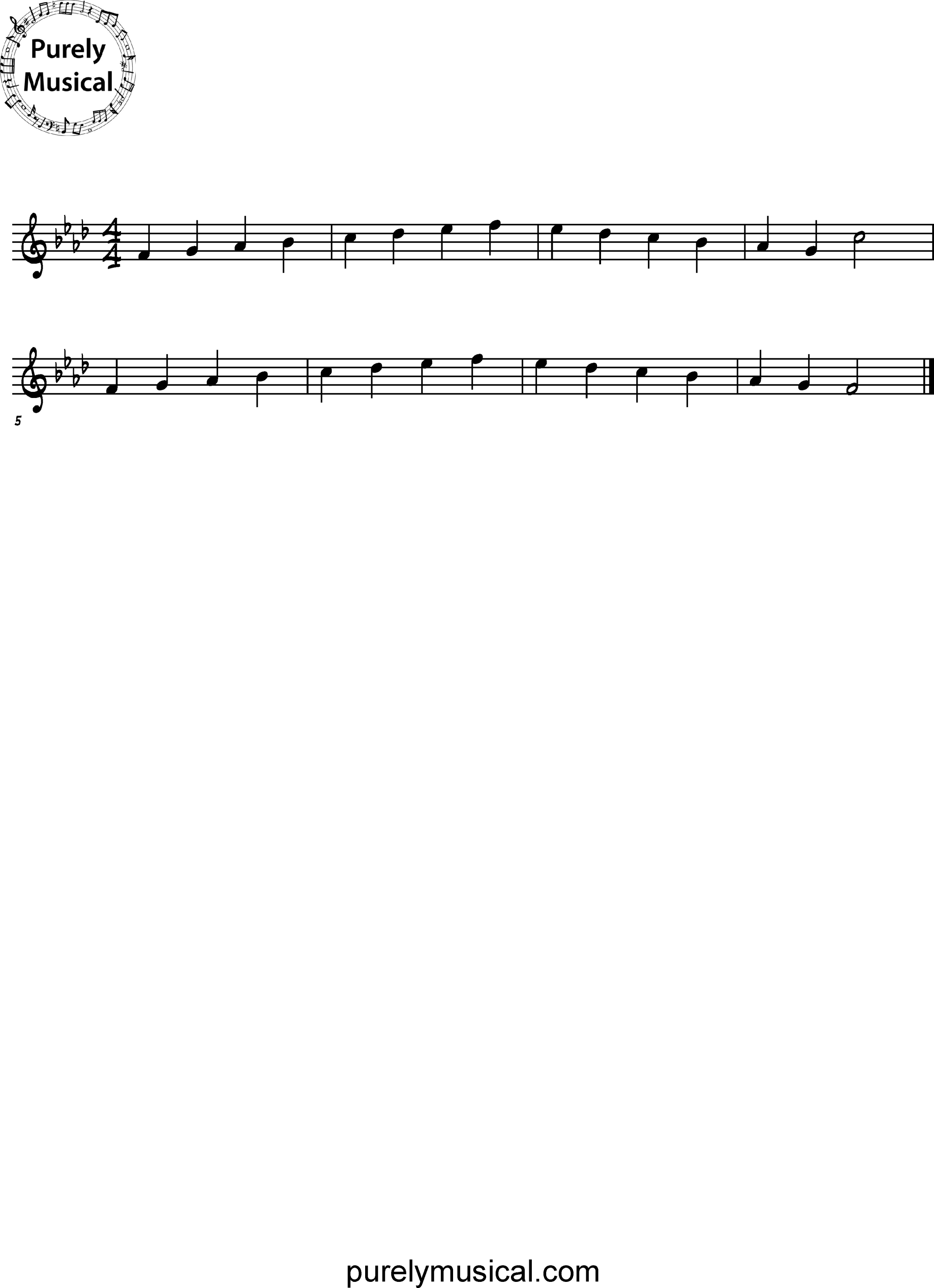 Beginner  Scale F Minor