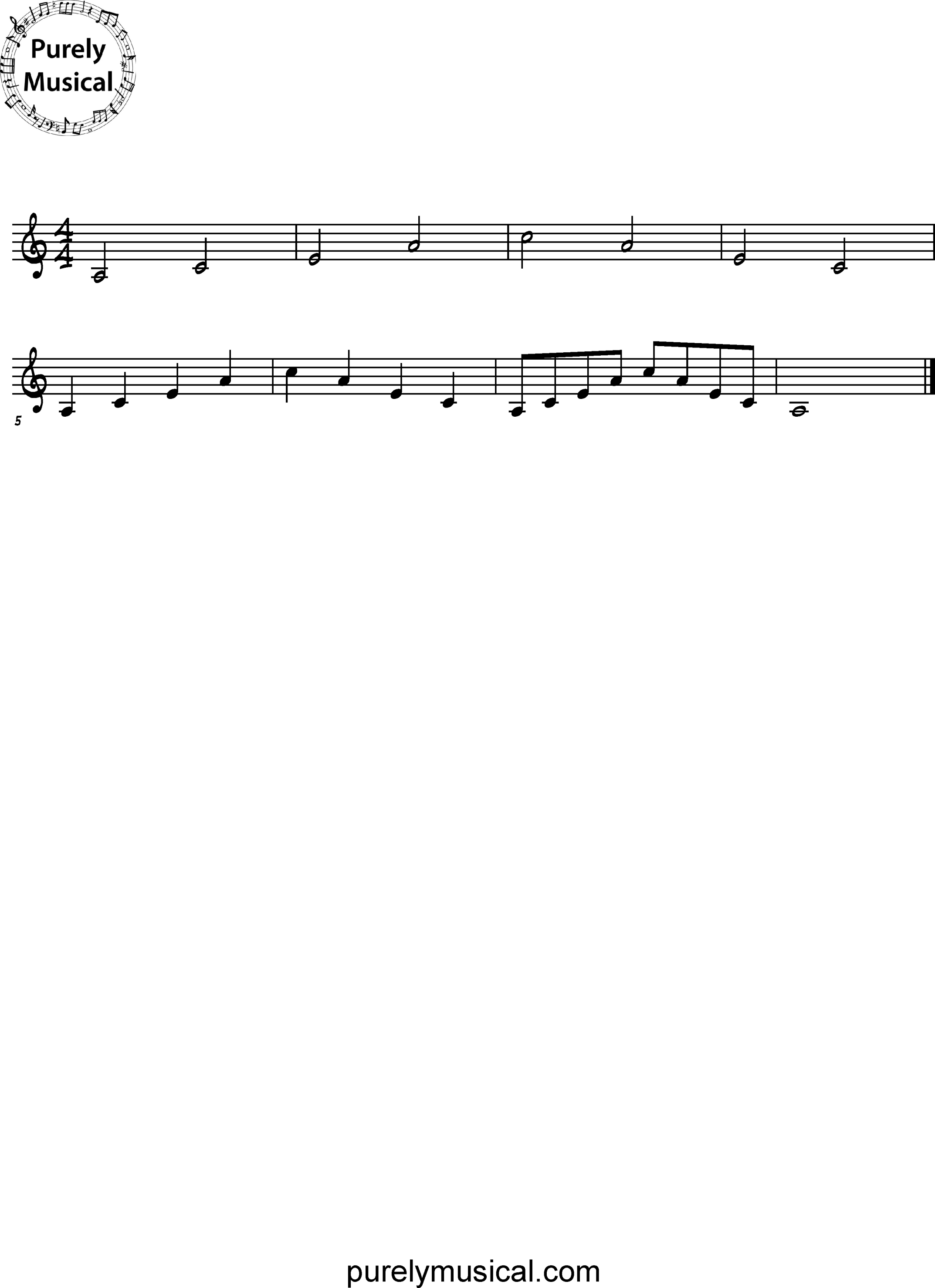 Beginner  Arpeggio A Minor