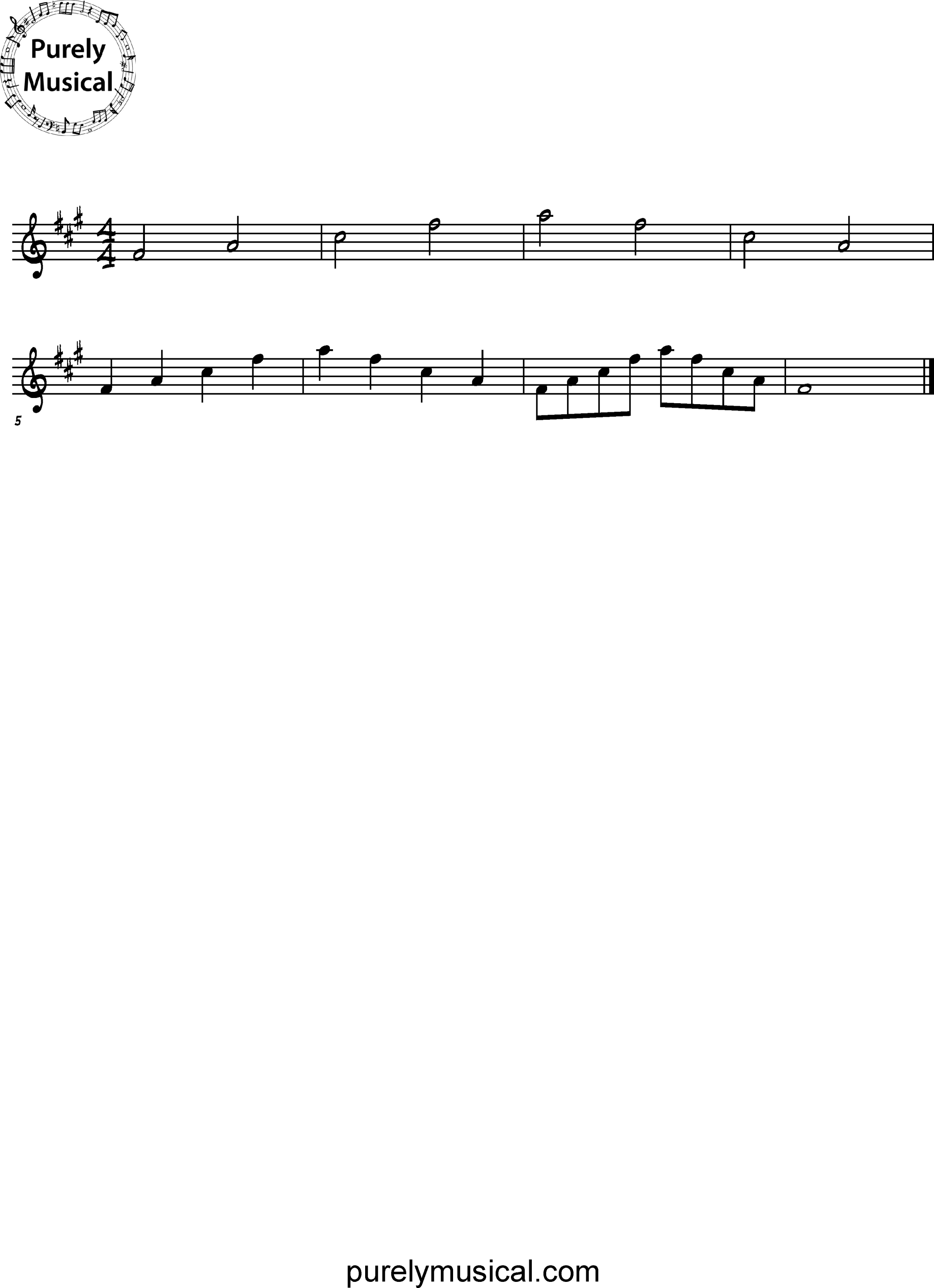 Intermediate  Arpeggio F# Minor