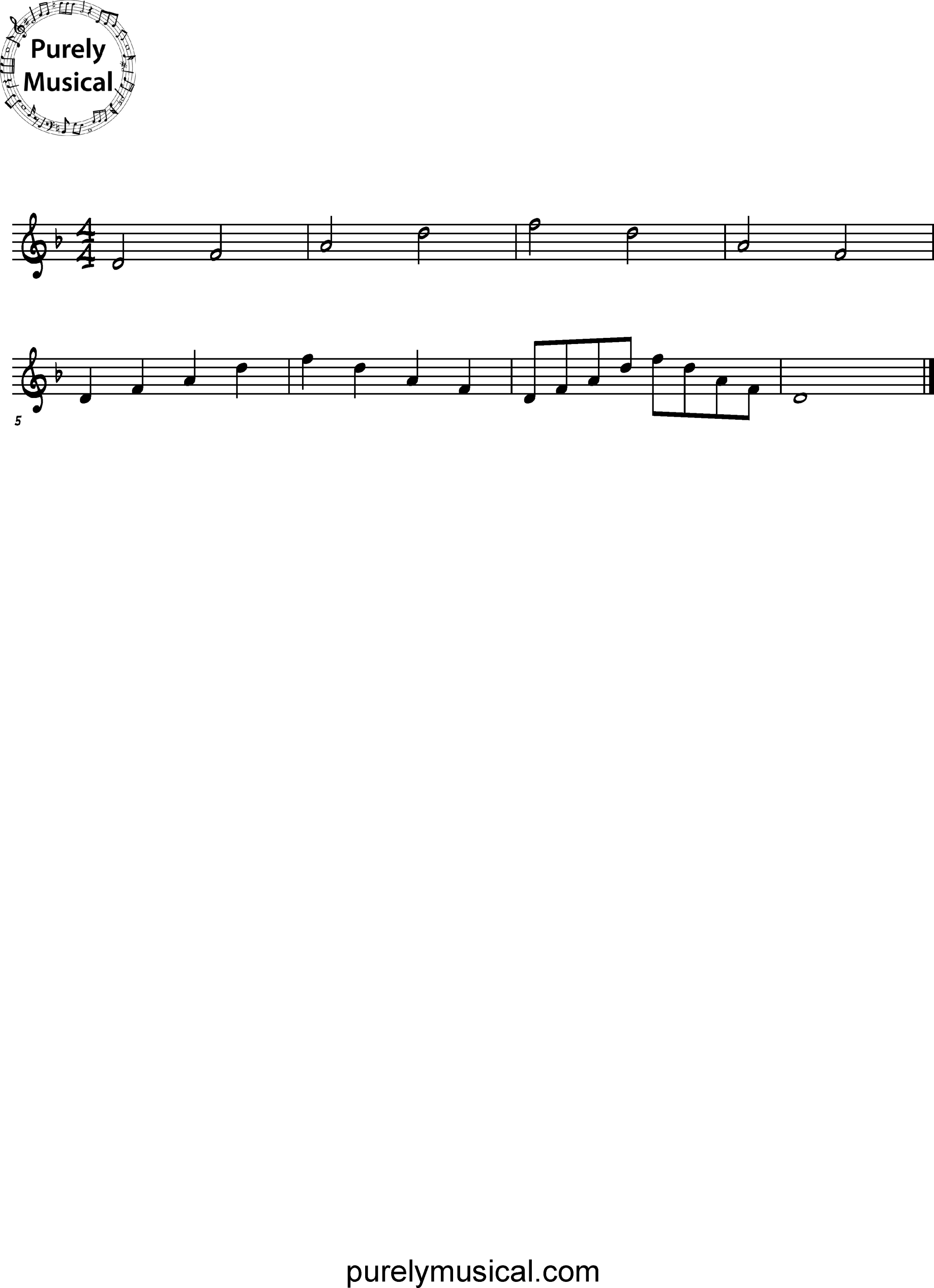 Beginner  Arpeggio D Minor