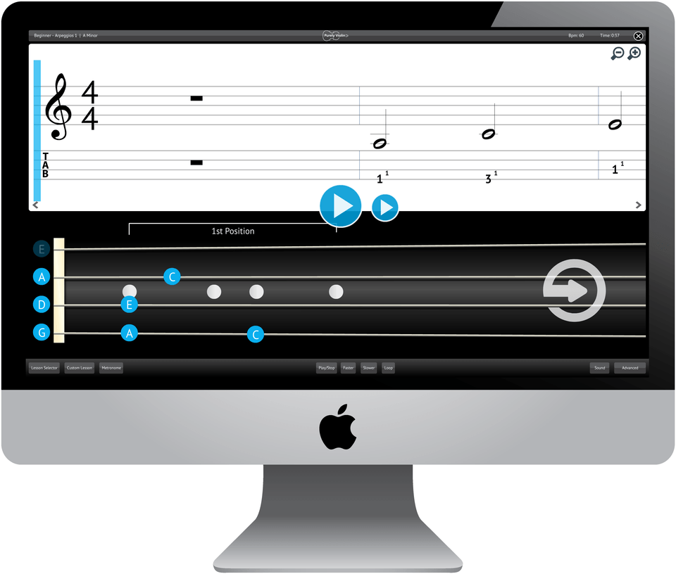Purely Violin Software Application